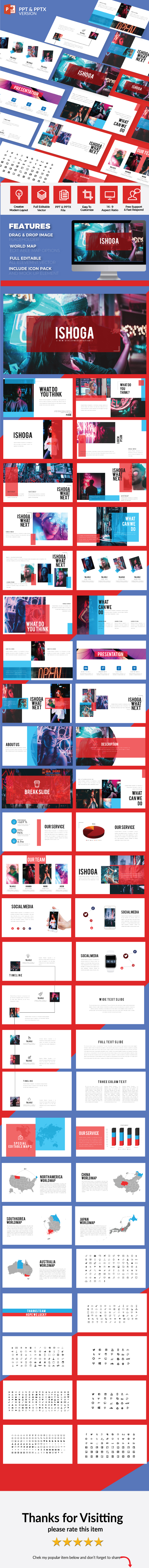 Ishoga - Multipurpose Presentation Template - PowerPoint Templates Presentation Templates