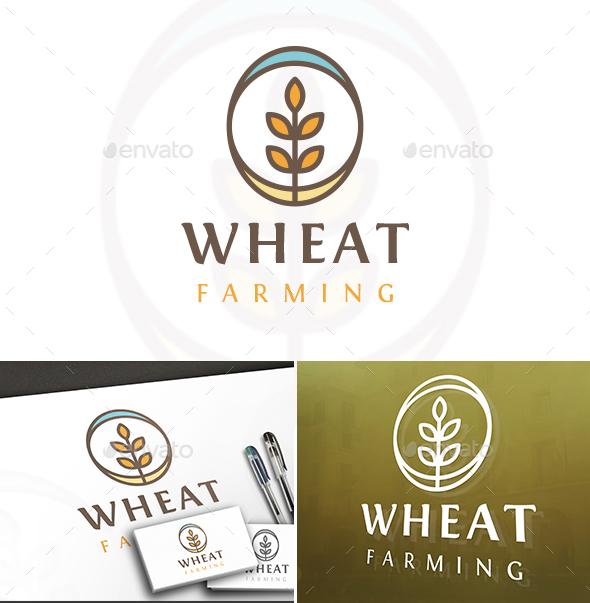 Circle Line Wheat Logo - Crests Logo Templates