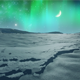 Northern Lights over Icy Plain - VideoHive Item for Sale