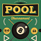 Retro Pool Night Tournament Flyer - GraphicRiver Item for Sale