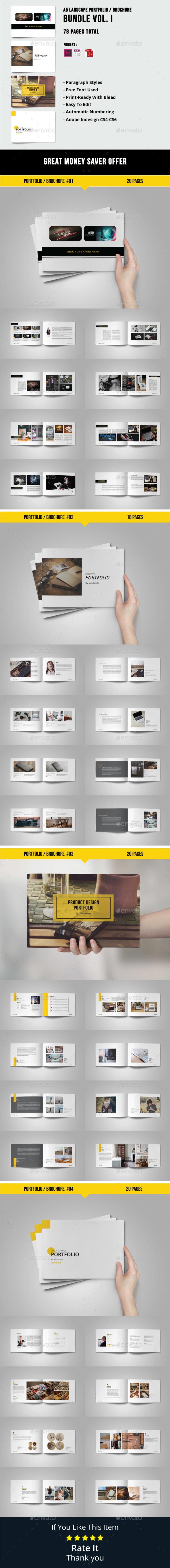 A5 Lanscape Portfolio / Brochure Bundle - Portfolio Brochures