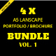 A5 Lanscape Portfolio / Brochure Bundle - GraphicRiver Item for Sale