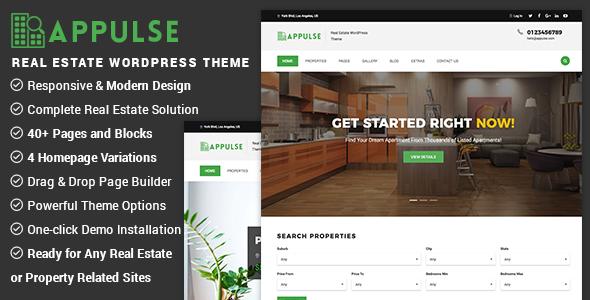 Appulse - Real Estate WordPress Theme - Real Estate WordPress