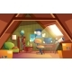 Vector Attic Interior, Children Playroom