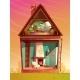 Vector House Interior in Section Cartoon