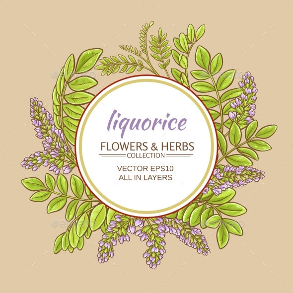 Liquorise Vector Frame - Flowers & Plants Nature