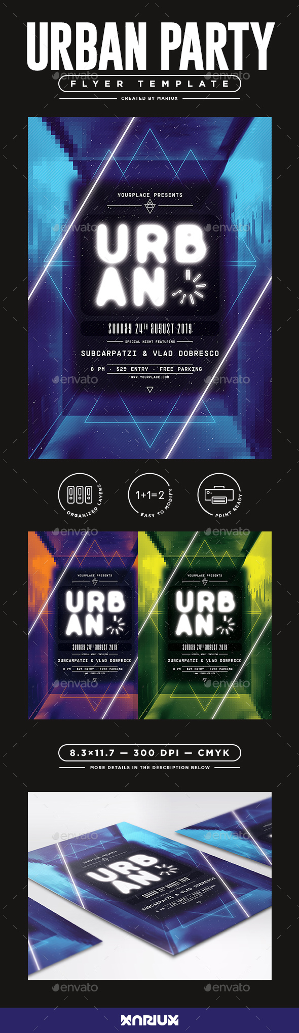 Urban Madness Flyer/Poster - Clubs & Parties Events