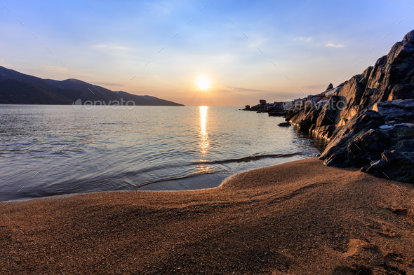 stratoni beach, greece - Stock Photo - Images