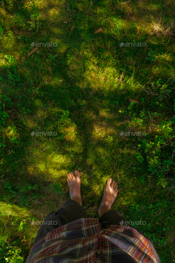 barefoot moss ground - Stock Photo - Images