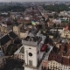 Aerial View of Lviv City Hall. with Ukrainian Flag in the Centre of Hall - VideoHive Item for Sale