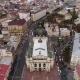 Aerial View of Lviv and Central Theatre, Traffic and People. Ukraine - VideoHive Item for Sale
