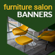 Furniture Salon Web Banners - GraphicRiver Item for Sale