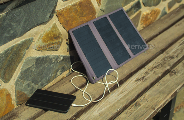 solar charge  - Stock Photo - Images
