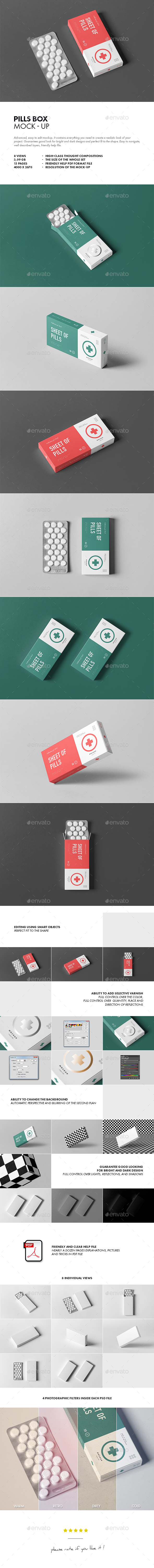 Pills Box Mock-up - Miscellaneous Packaging