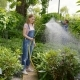 Woman Watering Plants in Garden - VideoHive Item for Sale