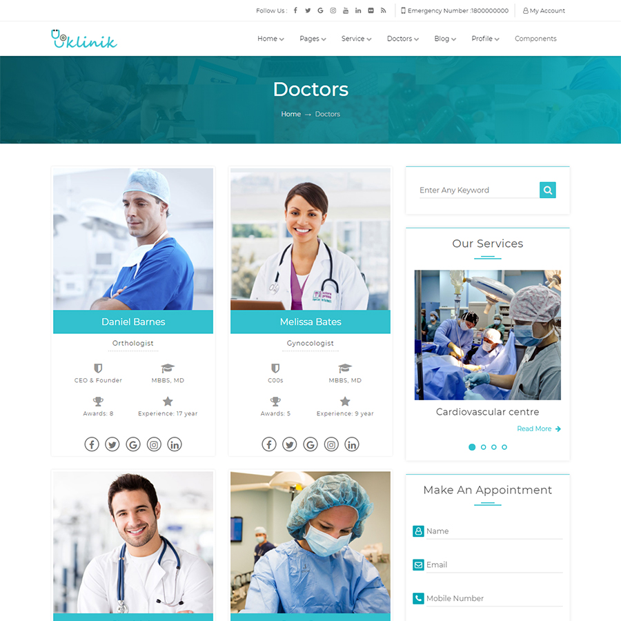 Klinik - HTML5 & CSS3 Responsive Template for Clinic, Doctor ...