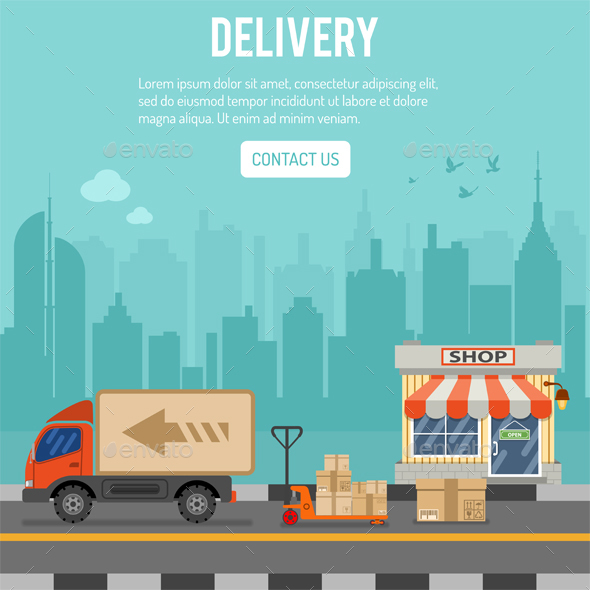 Shopping and Delivery Concept - Services Commercial / Shopping