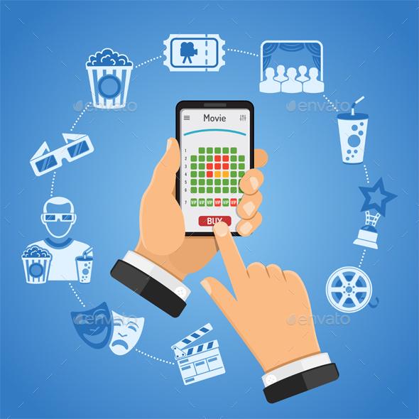 Online Cinema Ticket Order Concept - Media Technology