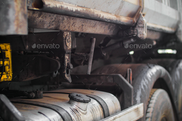 details of a metal truck /industry machine - Stock Photo - Images