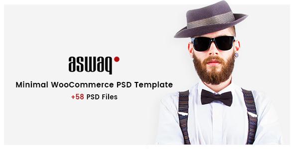 Aswaq – Minimal WooCommerce PSD Template