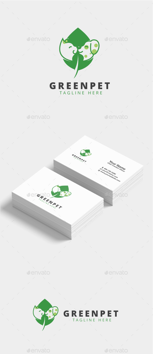 Green Pet Logo - Animals Logo Templates