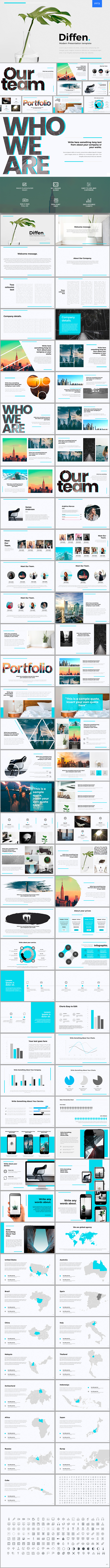 Diffen Powerpoint Template - PowerPoint Templates Presentation Templates