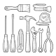 Set of Hardware Tools - GraphicRiver Item for Sale