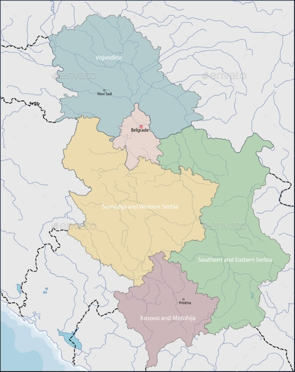 Map of Serbia - Miscellaneous Vectors