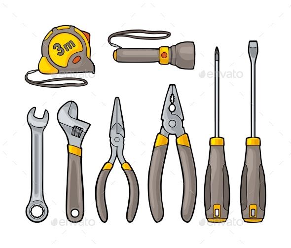 Set Hardware Tools. Vector Engraving - Miscellaneous Vectors