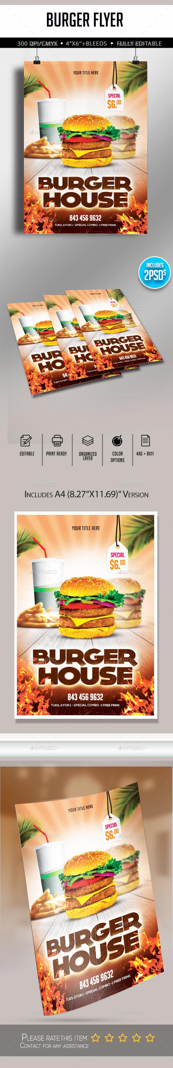 Burger Flyer - Restaurant Flyers