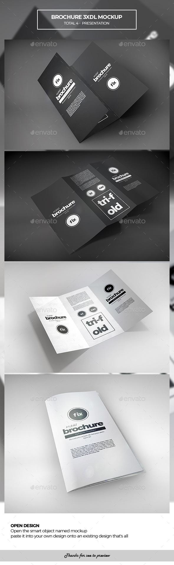 Brochure 3xDL Mockup - Brochures Print