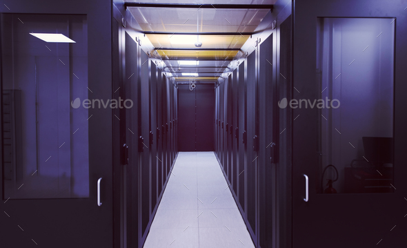 modern server room - Stock Photo - Images