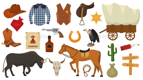 Wild West Vector Western Cowboy or Sheriff Signs - Miscellaneous Vectors