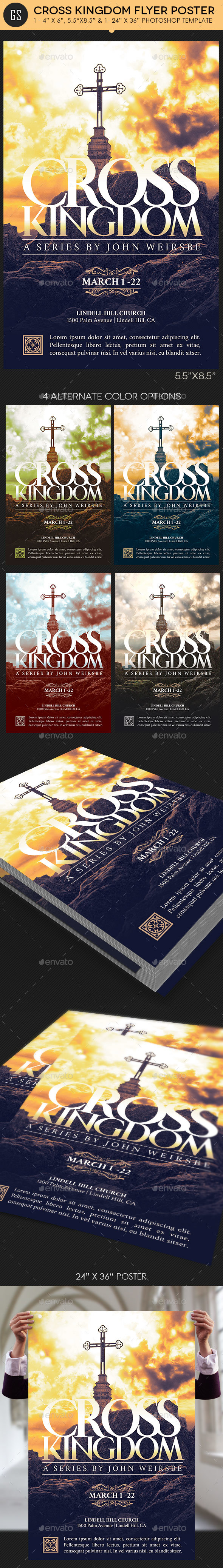 Cross Kingdom Flyer Poster Template - Church Flyers