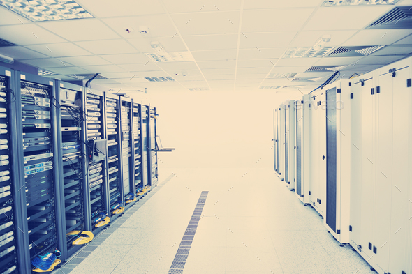 network server room - Stock Photo - Images