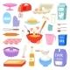Bakery Ingredients Vector Food and Kitchenware