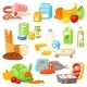 Food Vector Meal Assortment Vegetables or Fruits