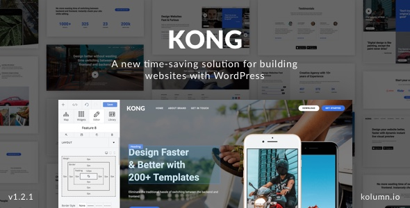 KONG - Website Builder WordPress Plugin - CodeCanyon Item for Sale