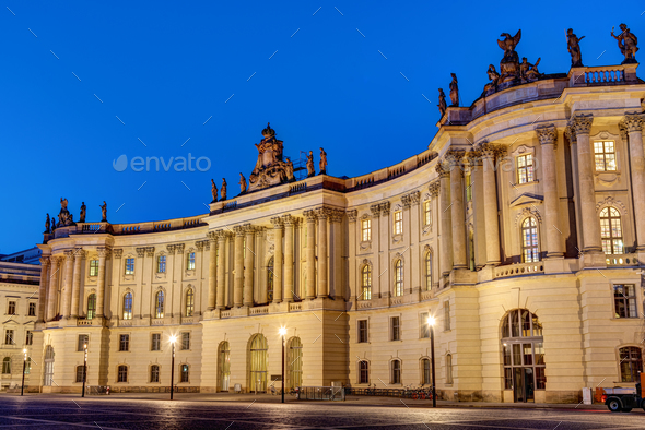 Old historic building at the Unter den Linden boulevard  - Stock Photo - Images
