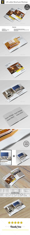 US Letter Brochure Mock-up - Brochures Print