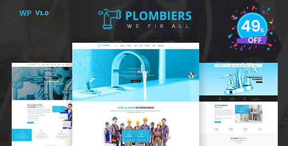 Plombiers – plumber, repair services WordPress Theme - Business Corporate