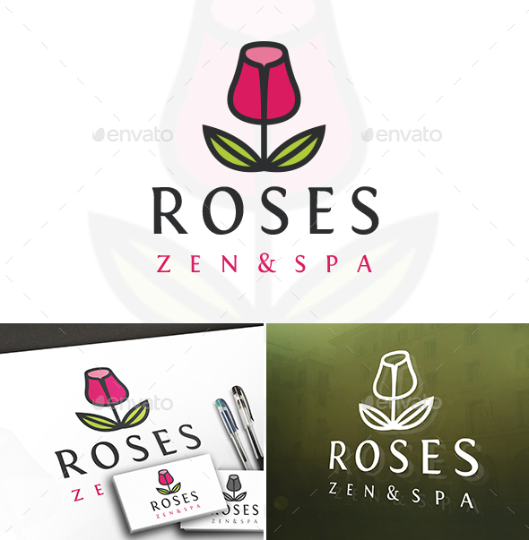 Furniture Rose Logo - Symbols Logo Templates