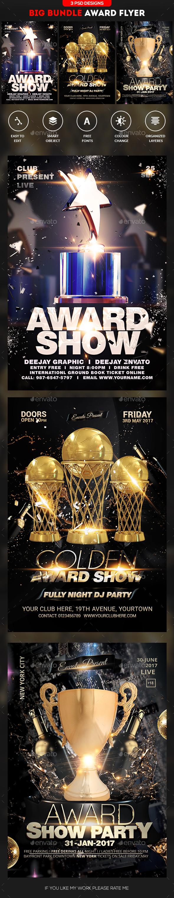 Music Award Flyer Bundle - Events Flyers