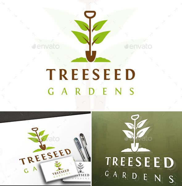 Seed Tree Logo - Nature Logo Templates
