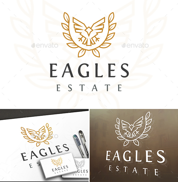 Eagle Royal Crest - College Logo Templates