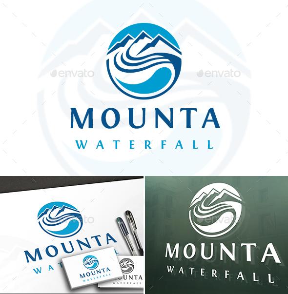Water Mountain Logo - Objects Logo Templates