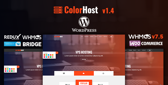 ColorHost | Responsive Web Hosting and WHMCS WordPress Theme - Hosting Technology