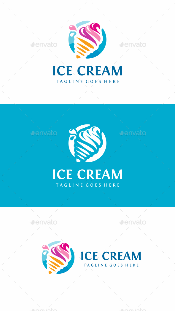 Ice Cream - Food Logo Templates
