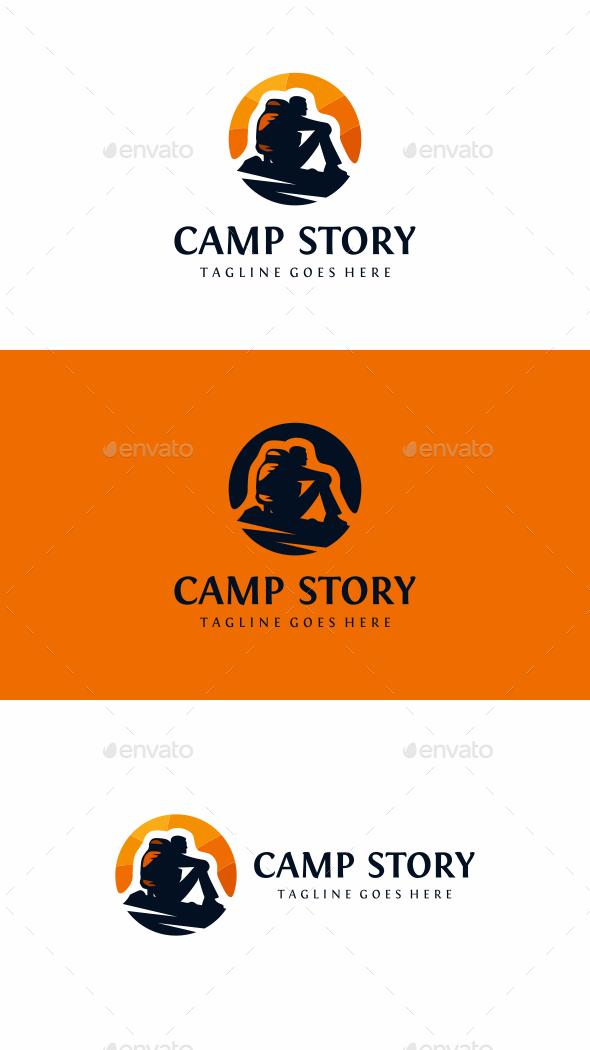 Camping - Humans Logo Templates