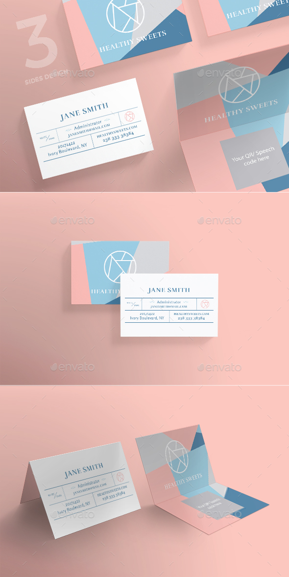 Healthy Sweets Business Card - Corporate Business Cards